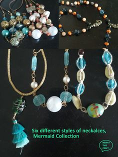 Summer Necklace, Plastic Beads, Acrylic Beads, Sister Gifts, Ball Chain, Lampwork Beads, Metal Chain, Different Styles, Glass Beads