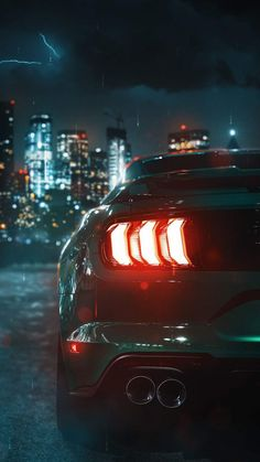 Mustang Tail Lights IPhone Wallpaper - IPhone Wallpapers