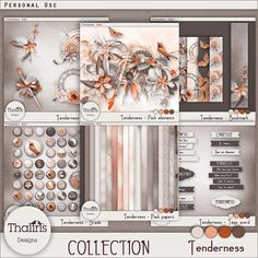 Now my TENDERNESS collection is available in 2 shops!  The kit and individual packs at 40% off,  And of course the complete collection at 50% off !!!  Until 25 February 2017, here: https://www.digitalscrapbookingstudio.com/thaliris-designs/ and http://www.digidesignresort.com/shop/thaliris-designs-m-232