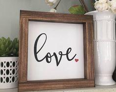 Love Mini Wood Sign