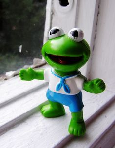 Kermit the Frog Figure Muppets 1980s Toy by smilehood on Etsy