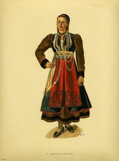 Traditional women's costumes from Southern Albania Greek Traditional Dress, Traditional Outfits, Folk Costume, Pli, Folklore, Greece, Culture, Dance, Collection