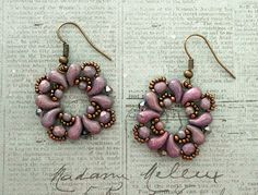 Linda's Crafty Inspirations: Buta Earrings - Lila Vega
