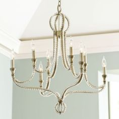 Pretty, Pretty! Pretty! Alexis 8-Light Pendant Chandelier | Ballard Designs #celebrateballard