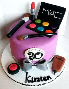MAC Makeup Cake - blinged out makeup cake for an old school friend :-)