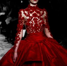 Marchesa Red Gown Detail