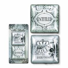 Crown Magnets, set of 2  www.crownchic.com