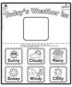 weather calendar coloring sheets free online printable coloring pages, sheets for kids. Get the latest free weather calendar coloring sheets images, favorite coloring pages to print online by ONLY COLORING PAGES. Weather Worksheets, Weather Activities, Preschool Worksheets, Preschool Activities, Preschool Weather Chart, Teaching Weather, Teaching Kids, Ingles Kids, Weather Calendar