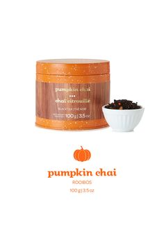 Pumpkin Chai collectible tin | $17 A sweet black tea spiced with caramel, pumpkin candies, cinnamon and cloves.