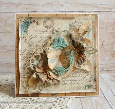 Riddersholm Design: Card with butterfly.....