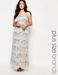 Lovedrobe Sleeveless Chiffon Maxi Dress With All Over Embellishment