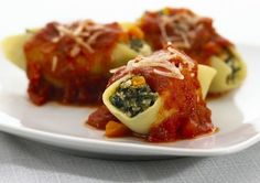 Spinach and Mushroom Stuffed Shells Recipe – 8 Points   | Weight Watchers Recipes