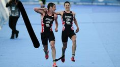 Brownlee Brothers win World Three Legged Race Championship -- British superstars Jonny and Alister Brownlee were today crowned world 3 legged triathlon race champions in a nail biting finish in Mexico. Although crossing the line behind the South Africans they were credited the win as he had lost his partner during the swim. All credit to the pair... -- #Brownlee, #Sport, #Triathlon -- http://wp.me/p7GOKB-1uX