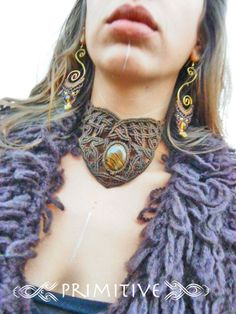 Pixie Tribal Macrame Necklace with Magnificent от PrimitiveCraft, $100.00