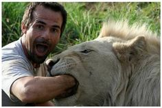 Unconditional Trust & Respect Kevin Richardson with one of his many lions