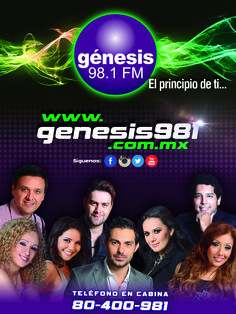 Desplegado para revista Look, Genesis 98.1