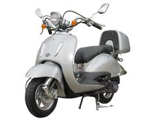 """SCO004 150cc Scooter Brand Engine, Automatic Transmission, Front Disc/Rear Drum Brake, 10"""" Wheels, Metallic Paint, Rear Trunk $850.00"""