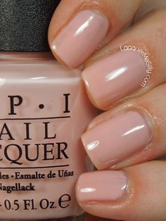 OPI Bubble Bath ~ perfect French Polish pink (pale pink sheer - not pearlised)