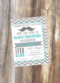 Baby Shower Invitation / Baby Boy / Printable File by RoostPaperie, $13.00