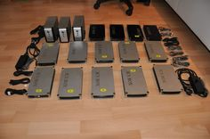 14 x ICY Box USB 2.0 IDE Festplattengehäuse und 3 x Fantec