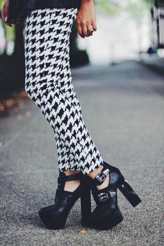 houndstooth and platform t-straps...the-streetstyle