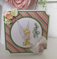 Disney Cards, Create And Craft, Lace Design, Kids Cards, Tinkerbell, Christmas Cards, Card Designs, Frame, Crafts
