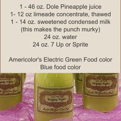 I definitely wanna make this! Swamp water perfect for a shrek party