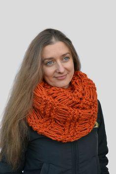 Chunky scarf Knit orange scarf Circle scarf Infinite loop scarf Tube knit scarf Mens scarf Cowl scarf crochet Christmas present Chunky scarf Circle scarf Infinite loop scarf Tube knit scarf Mens scarf Cowl scarf crochet Christmas present Knitted scarf Knit scarf Gift for her Scarf large loop Scarf tube Knit orange scarf 30.00 USD #goriani