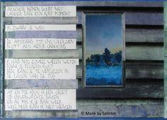 'Afstand' ansichtkaart gemaakt door Saskia Splinter #postcard #art #calligraphy #ansichtkaart