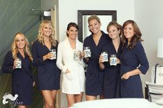 bath robes & coozies - cute bridesmaid gift definite going to be in the bridemaid gift bag - im def doing the purple robe thing!