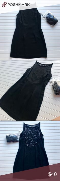 NWT Scott McClintock Black Cocktail Dress Size 6 NWT gorgeous Scott McClintock Black Cocktail Dress.  See through upper back embellished with sequins. Comes with a complementary Jessica McClintock Black scarf. Size 6 62%Rayon 58% Acetate Comes from a pet and smoke free home. Check out my other listings for a bundle deal!  :) Scott McClintock Dresses