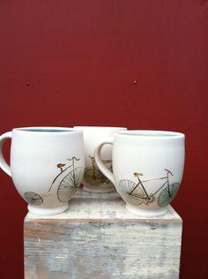 Bicycle mug. $28.00, via Etsy.
