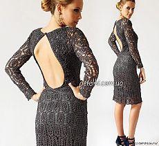 Элегантное вечернее платье крючком