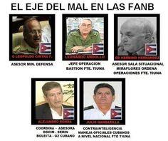 Conócelos: estos son los militares cubanos que dan ordenes en las FANB - Sebin - DGCIM