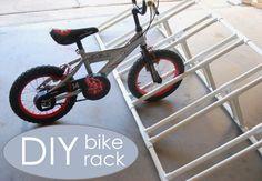 DIY Pvc Toys for kids - diy bike rack Pvc Bike Racks, Diy Bike Rack, Bicycle Rack, Bike Racks For Garage, Home Bike Rack, Bike Storage, Garage Storage, Rack Velo, The Family Handyman