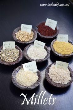Millets - Types of Millets, Benefits, Nutrition Information ~ Indian Khana