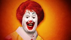 """Send in the clowns. Don't worry they're here.""  *sadface*  If Trump wins the US presidency it will be fair to assume that the lunatics will finally be running the asylum.  As such it seemed fitting to culture jam Ronald with Donald to create this hybrid clown of incomparable nightmarishness.  I give you - Ronald Trump."
