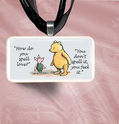 Winne the Pooh and Piglet Domino Pendant by SmittensDesigns, $7.00