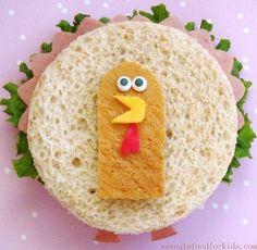 Lustiges Kinder-Sandwich: Truthahn. Fast zu schade zum Essen. ;)