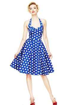 Vintage Polka Dot Dresses - 50s Spotty and Ditsy Prints in 2019 ... 13934a6c43f