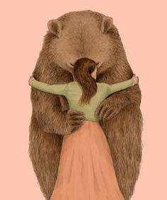 Chien Basset Hound, Wallpaper Fofos, Love Bear, Bear Art, Whimsical Art, Cute Illustration, Spirit Animal, Cute Art, Illustrators