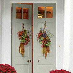 Festive Fall Wreath Ideas: Broom Door Badge