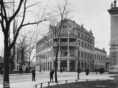 Christiania Kristiania 1902 Theaterkaféen og Hotel Contintenal Stortingsgata 24-26 og Klingenbeggata foto Wilse