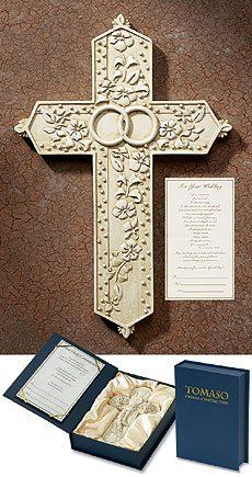 7.5 Inches High, Resin, Wedding Gift Cross Tomaso, Accompanied By a Presentation Certificate by Tomaso Crosses of Distinction, http://www.amazon.com/dp/B007TVM5G0/ref=cm_sw_r_pi_dp_kShIpb0GAB3G2 $31.74