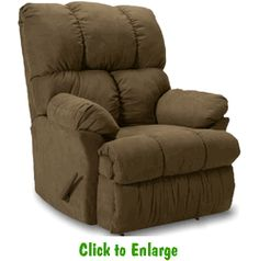 The taylor rocker recliner with an available wall for E motion therapy massage recliners