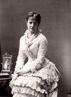 Archduchess Clotilde of Austria, neé Princess of Saxe Coburg and Gotha. 1880s.