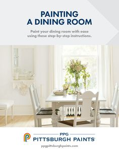 Need to learn how to paint a dining room? Want to learn how to pick the right dining room colors? Paint your dining room with ease using these step-by-step instructions and dining room paint color tips.