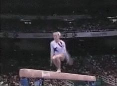 Shannon Miller doing one of my favorite skills w so much control. Love her