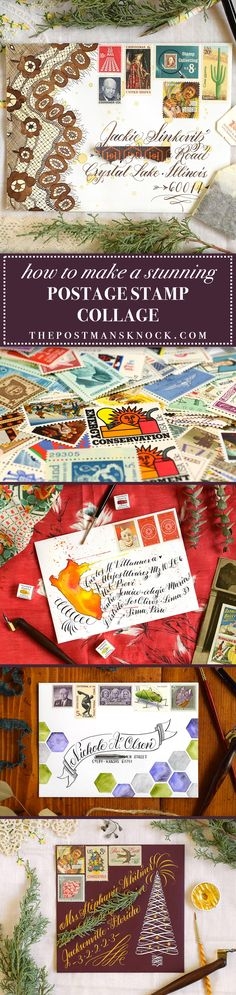Maybe creating a postage stamp collage appeals to you — but you're not sure where to get the postage stamps, how to arrange them, or if your collaged envelope will arrive safely. If that's the case, you'll enjoy this blog post!