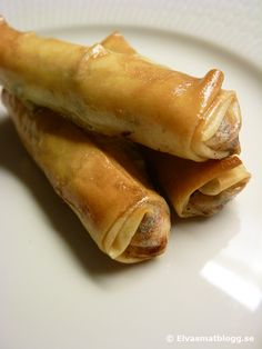 Phyllo rolls filled with feta cheese - Lebanese Meza